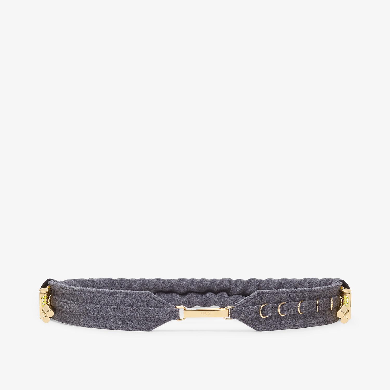 FENDI BELT - Gray flannel belt - view 1 detail