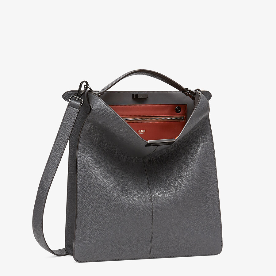 FENDI PEEKABOO ISEEU TOTE - Gray leather bag - view 4 detail
