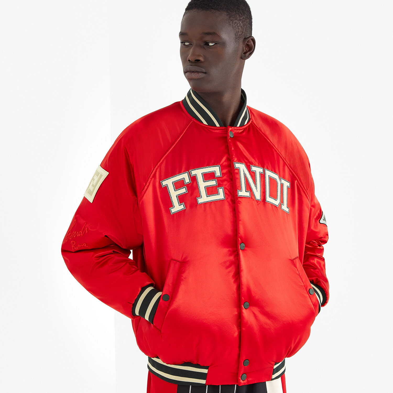 FENDI BOMBER - Red satin jacket - view 5 detail