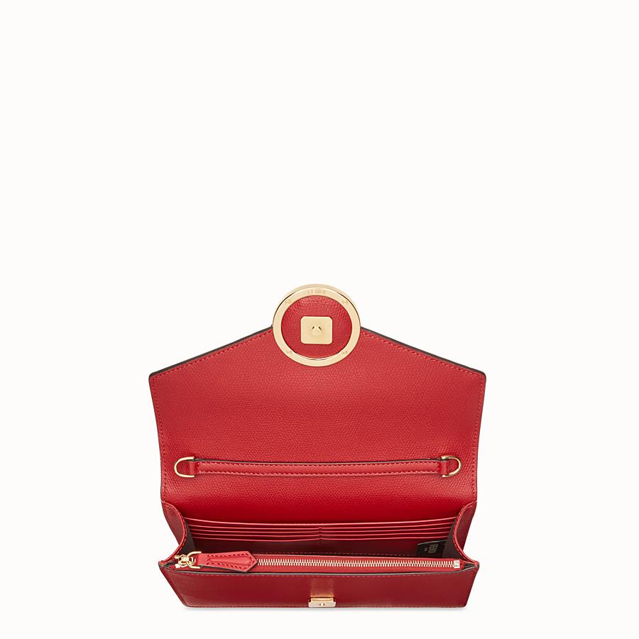 FENDI WALLET ON CHAIN - Minibag in pelle rossa - vista 4 dettaglio