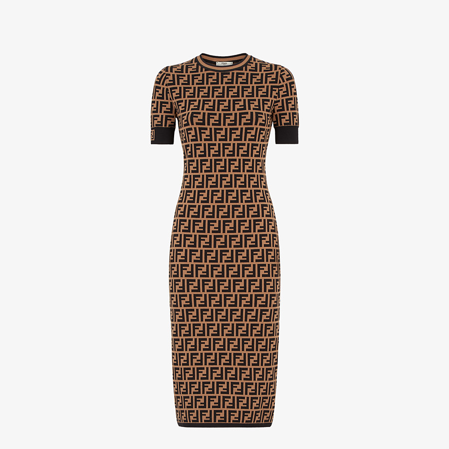 FENDI DRESS - FF motif fabric dress - view 1 detail