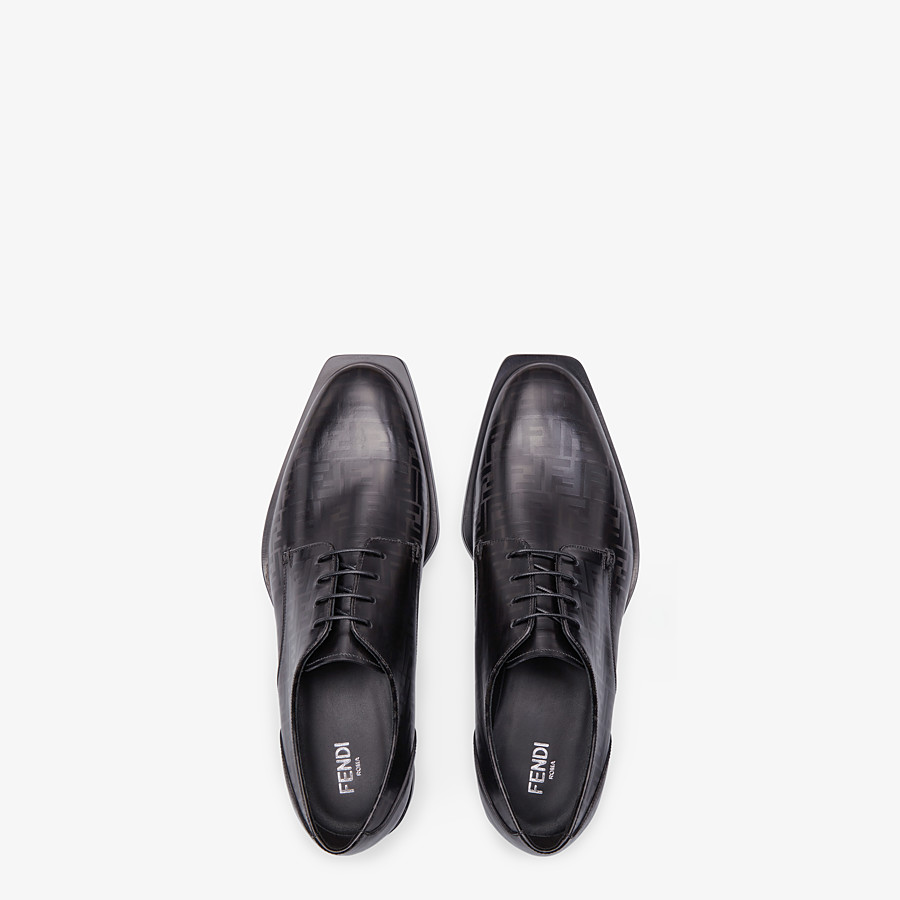 FENDI LACE-UPS - Black leather lace-ups - view 4 detail