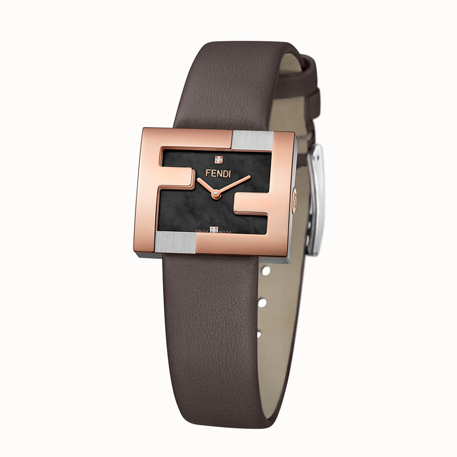 FENDI FENDIMANIA - 24 x 20 MM - Watch with FF logo bezel - view 2 detail