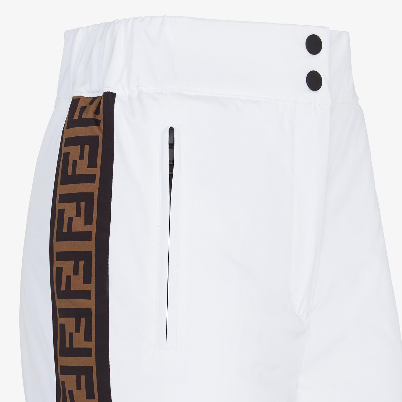 FENDI SKI PANTS - White tech nylon ski pants - view 3 detail