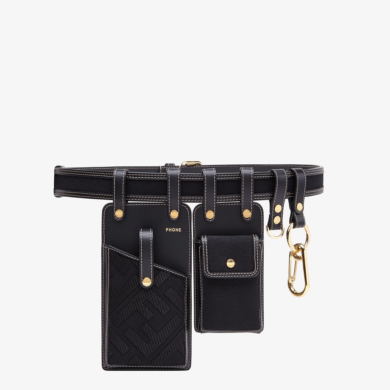 FENDI CINTURA - Cintura in pelle nera - vista 1 dettaglio