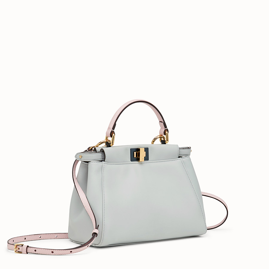 FENDI PEEKABOO MINI - Grey leather bag - view 2 detail