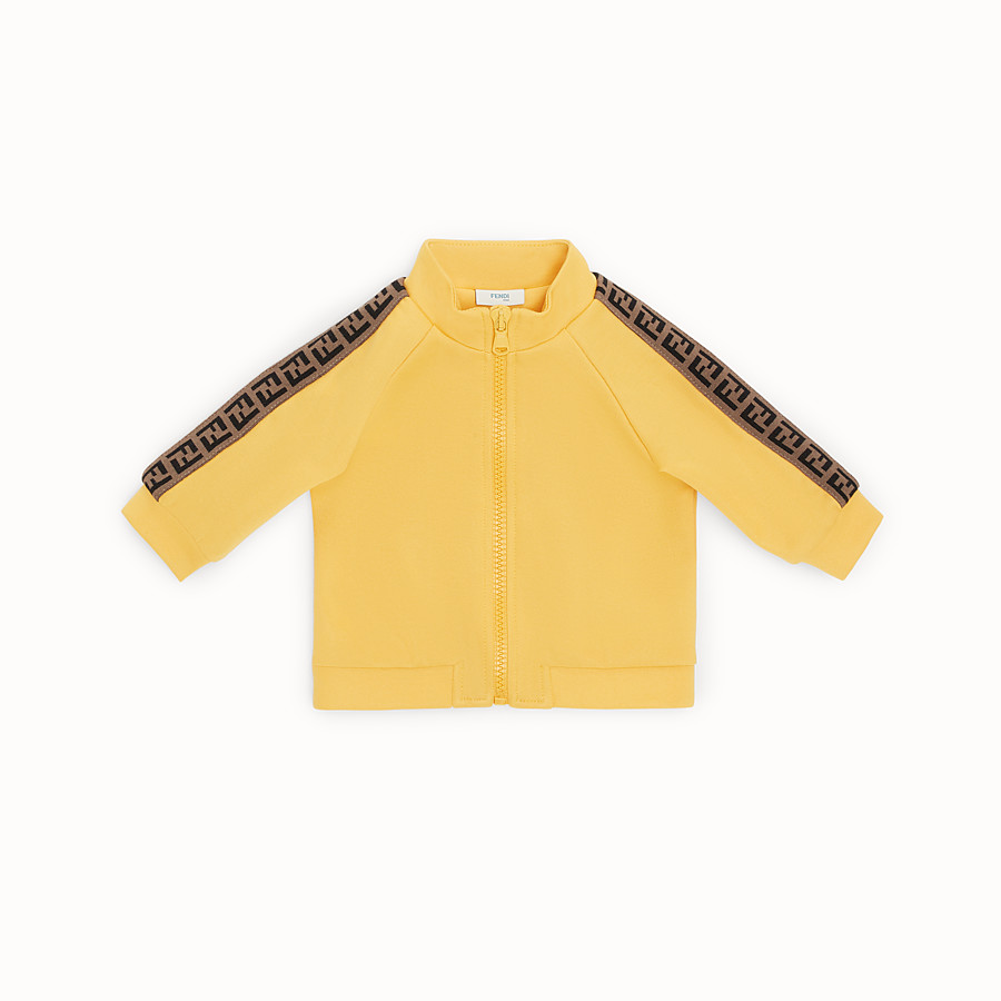 FENDI SWEATSHIRT - Yellow tech fabric baby sweatshirt - view 1 detail