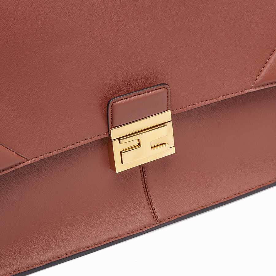 FENDI KAN U LARGE - Red leather bag - view 6 detail