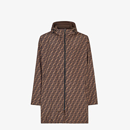 FENDI WINDBREAKER - Brown tech fabric parka - view 1 thumbnail