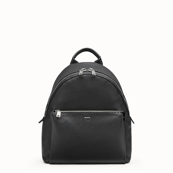 FENDI BACKPACK - Black Selleria backpack with stitching - view 1 small thumbnail