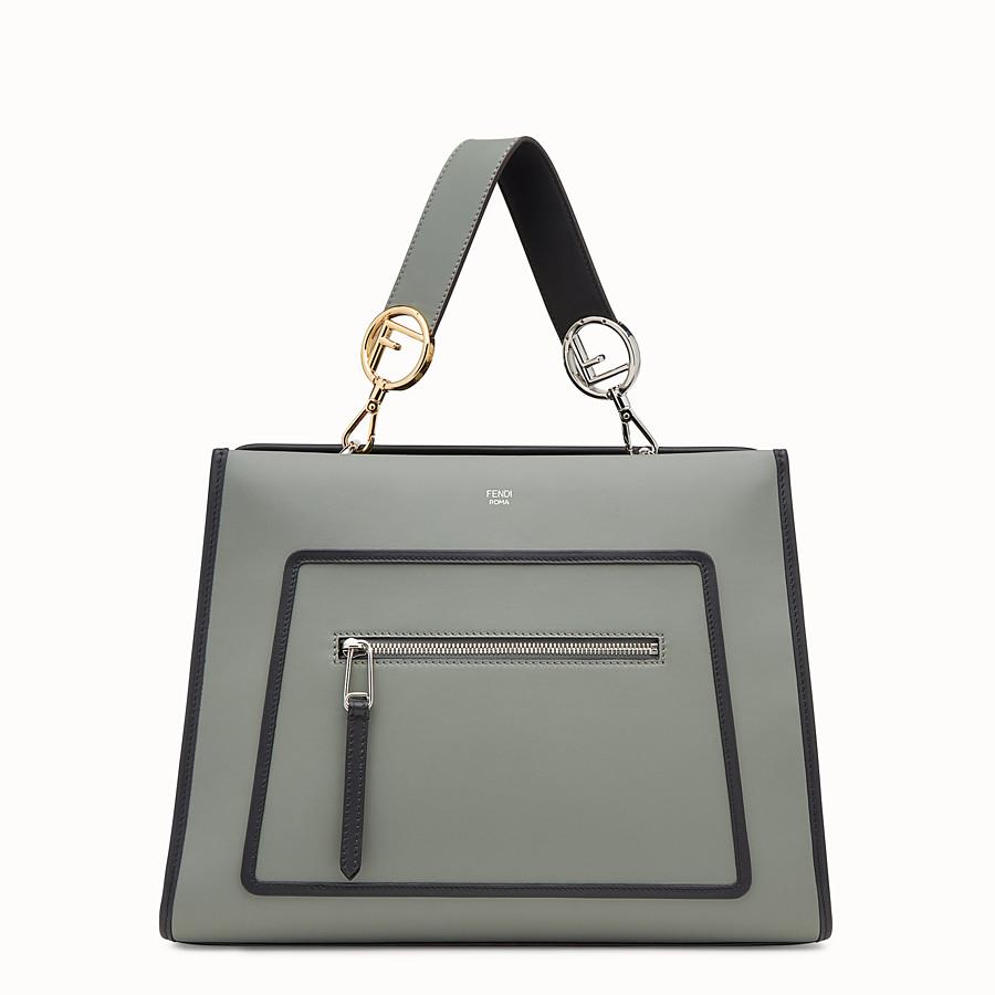 FENDI RUNAWAY REGULAR - Green leather bag - view 1 detail