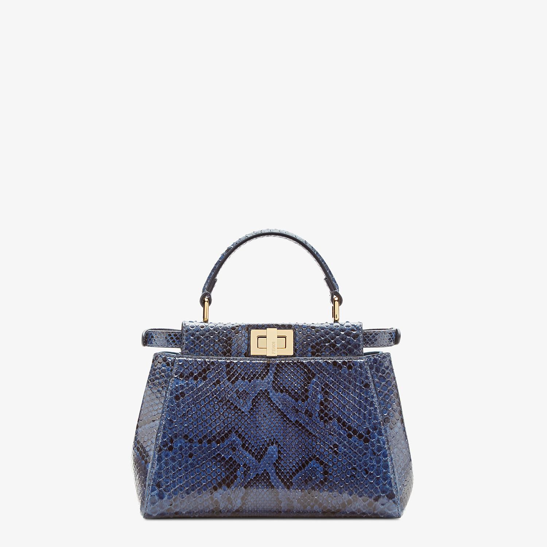 FENDI PEEKABOO ICONIC MINI - Blue python handbag. - view 3 detail