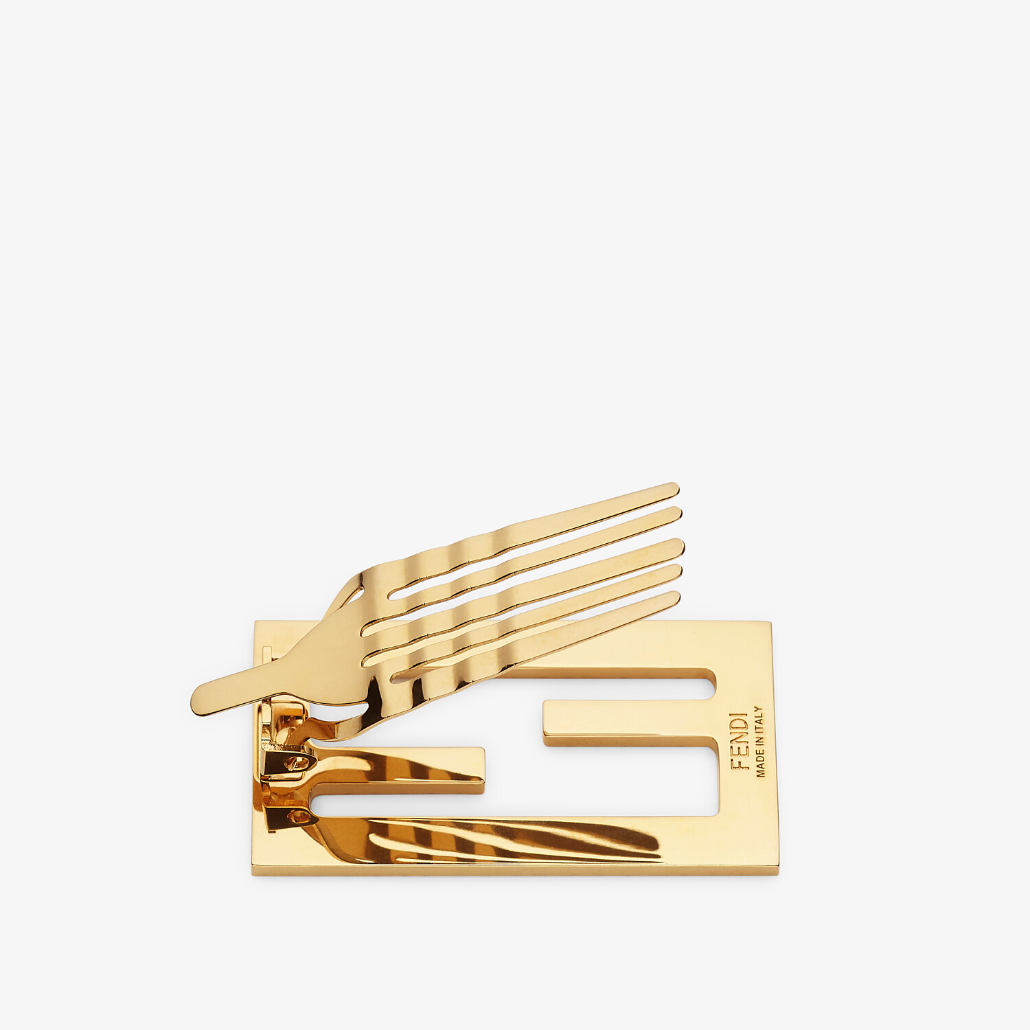 FENDI BAGUETTE HAIR CLIP - Gold-colored hair clip - view 3 detail