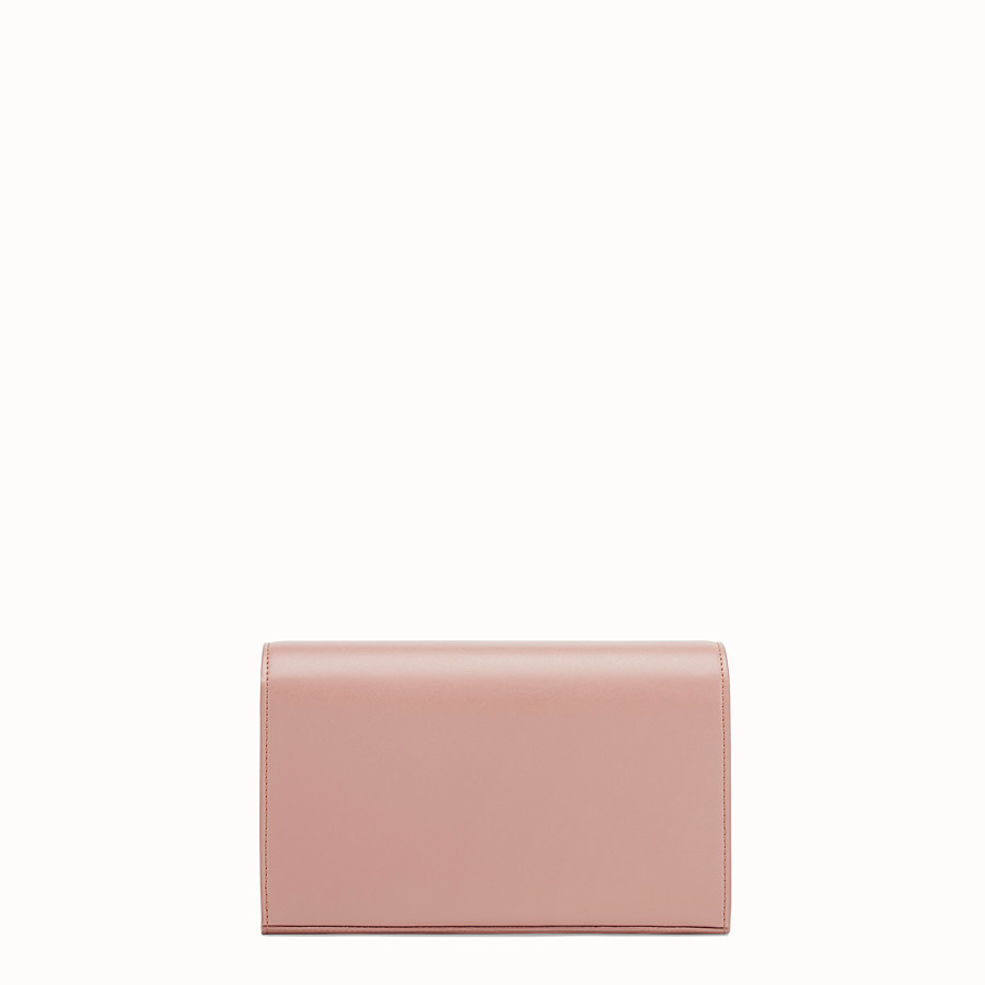 FENDI WALLET ON CHAIN - Mini-bag in pink leather - view 3 detail