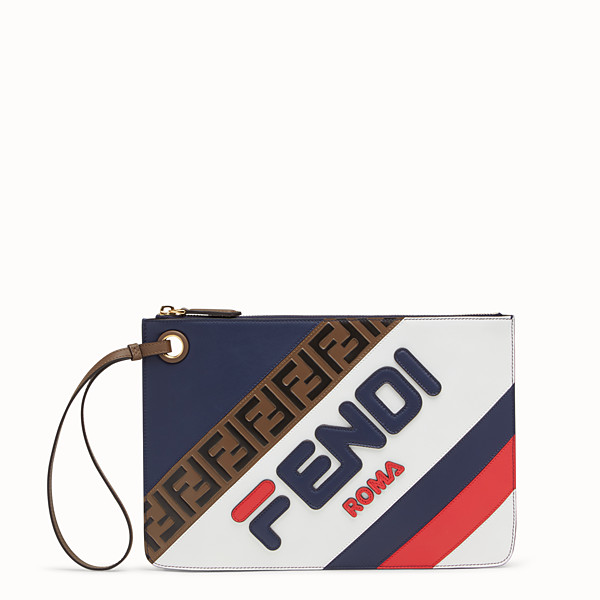 FENDI MEDIUM TRIPLETTE CLUTCH - Multicolour leather clutch - view 1 small thumbnail