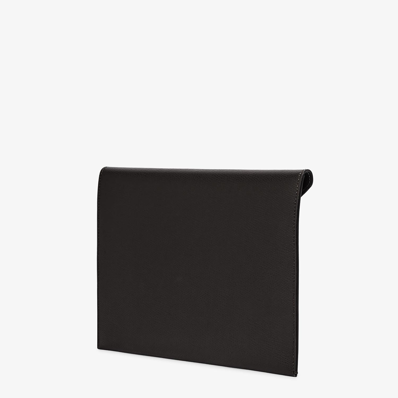 FENDI FLAT POUCH LARGE - Black leather pouch - view 2 detail