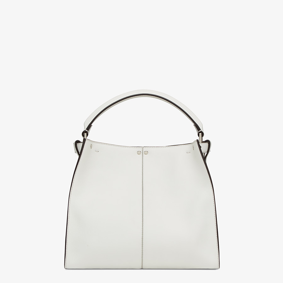 FENDI MEDIUM PEEKABOO X-LITE - White leather bag - view 5 detail