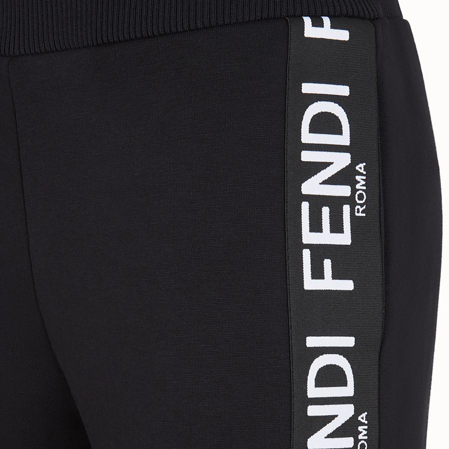 FENDI PANTALON - Pantalon de jogging en tissu noir - view 3 detail