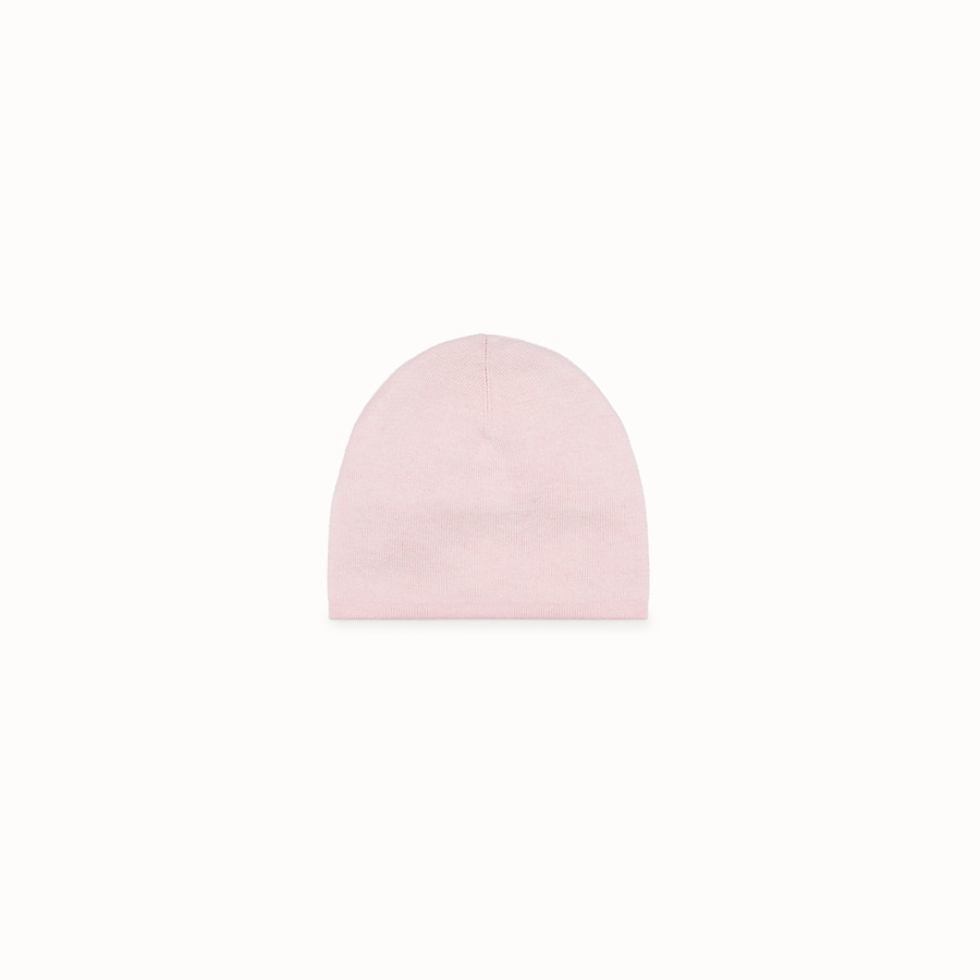 FENDI HAT - Cream and pink wool hat - view 2 detail