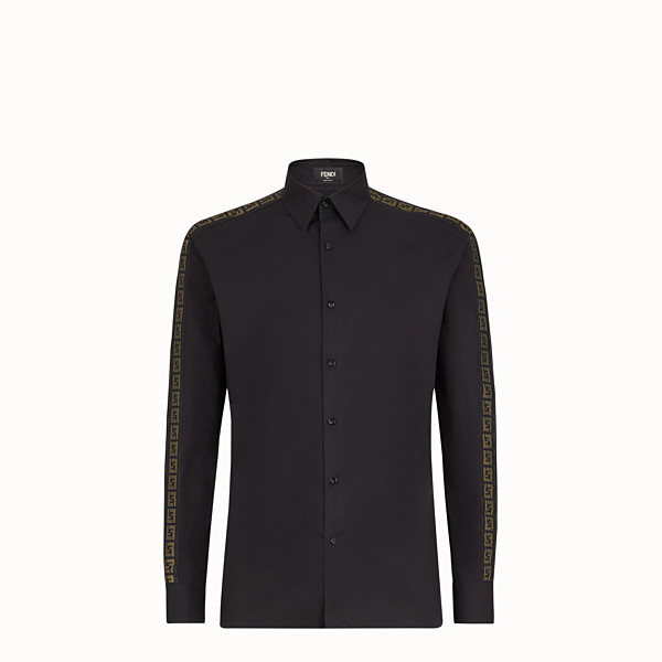 FENDI SHIRT - Black cotton shirt - view 1 small thumbnail