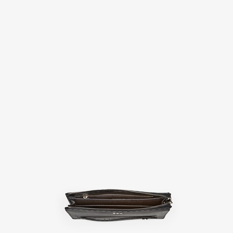 FENDI CLUTCH - Black leather clutch - view 4 detail