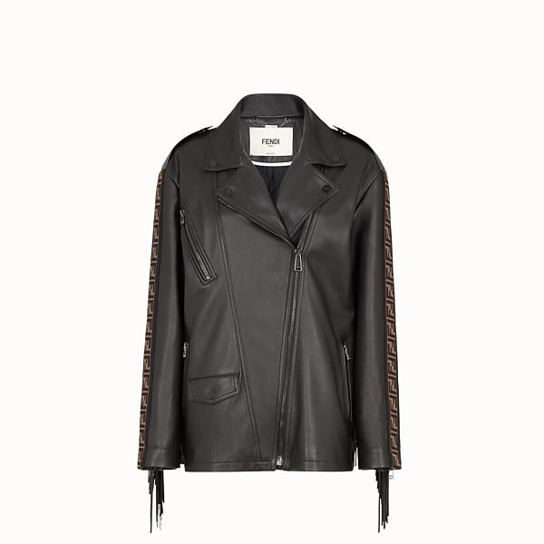 FENDI JACKET - Black leather jacket - view 1 small thumbnail