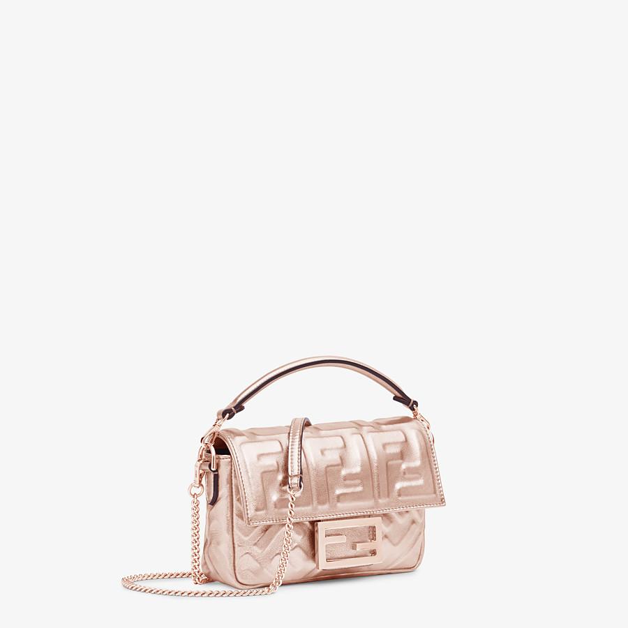 FENDI BAGUETTE MINI - Pink leather bag - view 2 detail