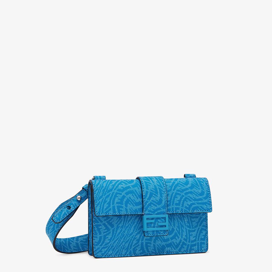 FENDI BAGUETTE POUCH - Blue fabric bag - view 2 detail