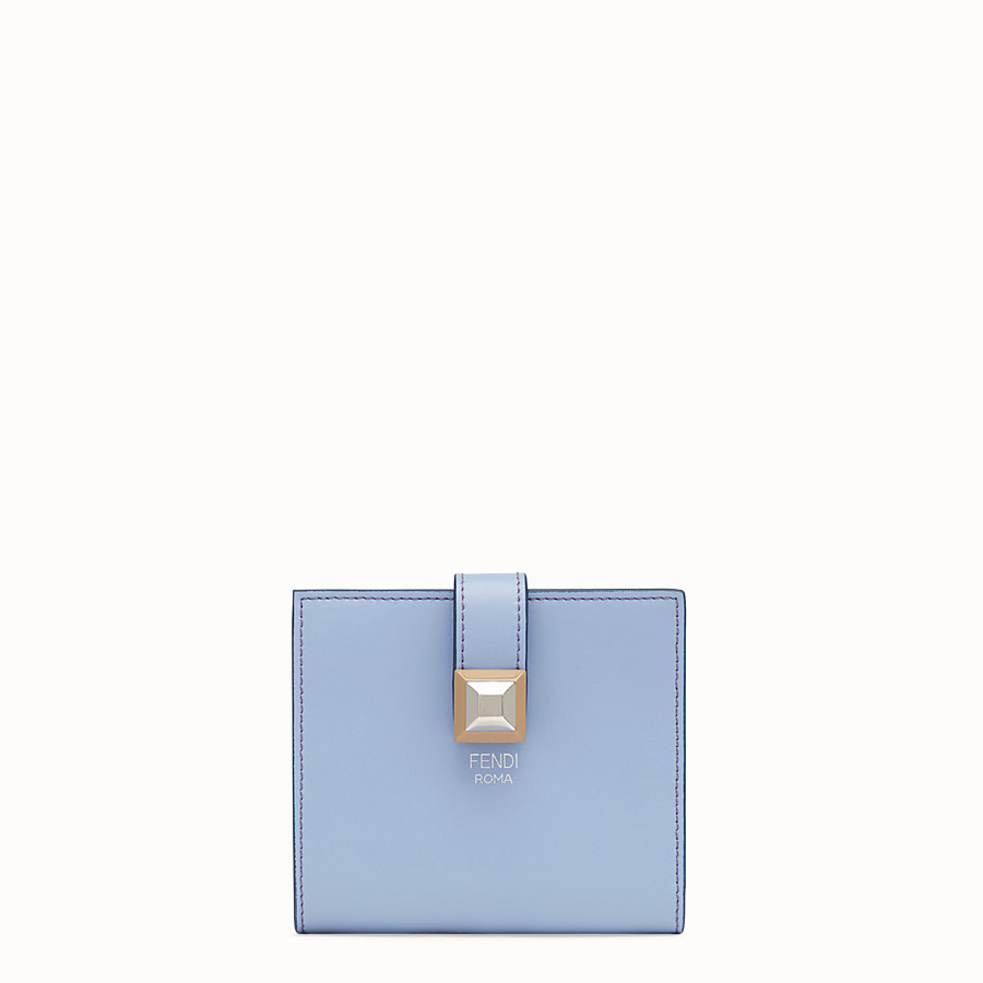 FENDI BIFOLD - Light blue compact leather wallet - view 1 detail