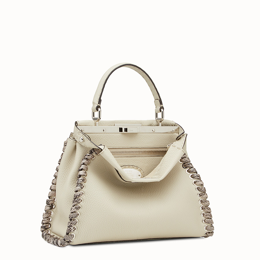 FENDI PEEKABOO REGULAR - Bolso de mano Selleria blanco con trenzado - view 2 detail