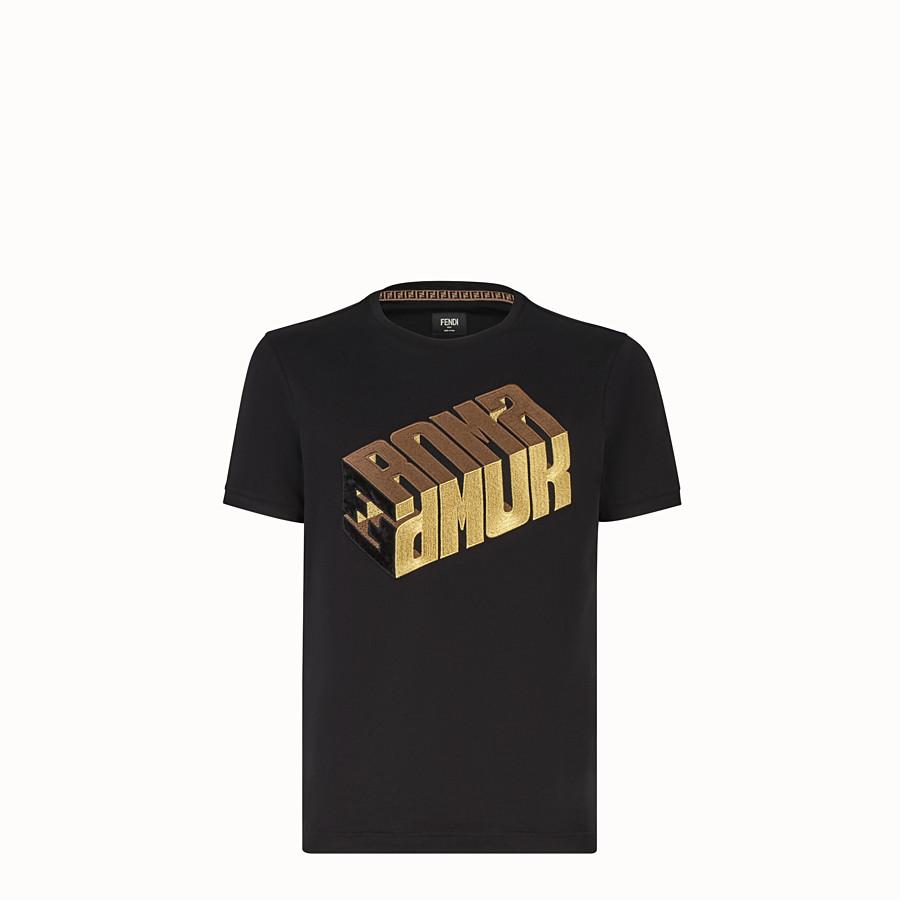 FENDI T-SHIRT - Fendi Roma Amor jersey T-shirt - view 1 detail