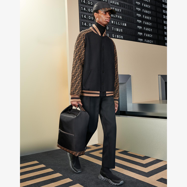 FENDI BACKPACK - Black nylon backpack - view 5 detail