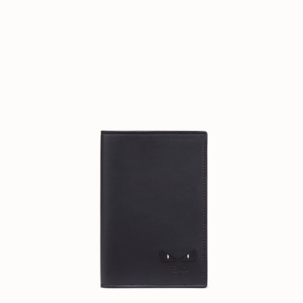 FENDI PASSPORT COVER - Black calf leather passport cover - view 1 small thumbnail