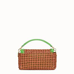 FENDI BAGUETTE - Brown leather interlace bag - view 4 thumbnail