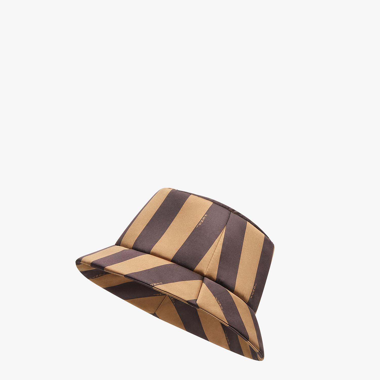 FENDI HAT - Brown silk bucket hat - view 1 detail
