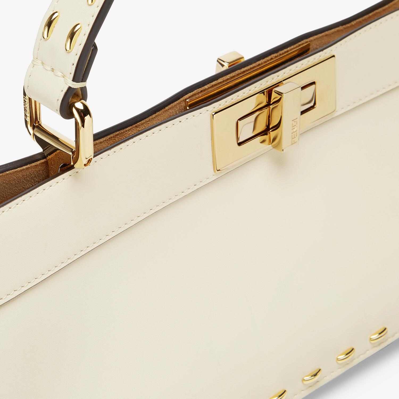 FENDI PEEKABOO ISEEU STRETCH - White leather bag - view 6 detail