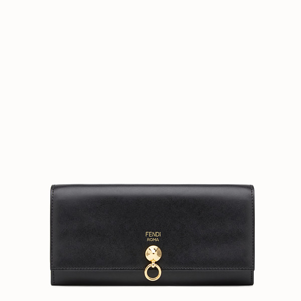FENDI CONTINENTAL WITH CHAIN - Wallet in black leather - view 1 small thumbnail