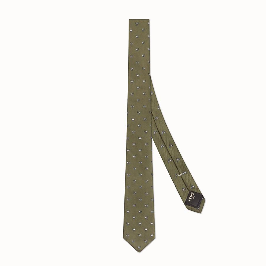 FENDI 領帶 - 綠色刺繡真絲領帶 - view 1 detail
