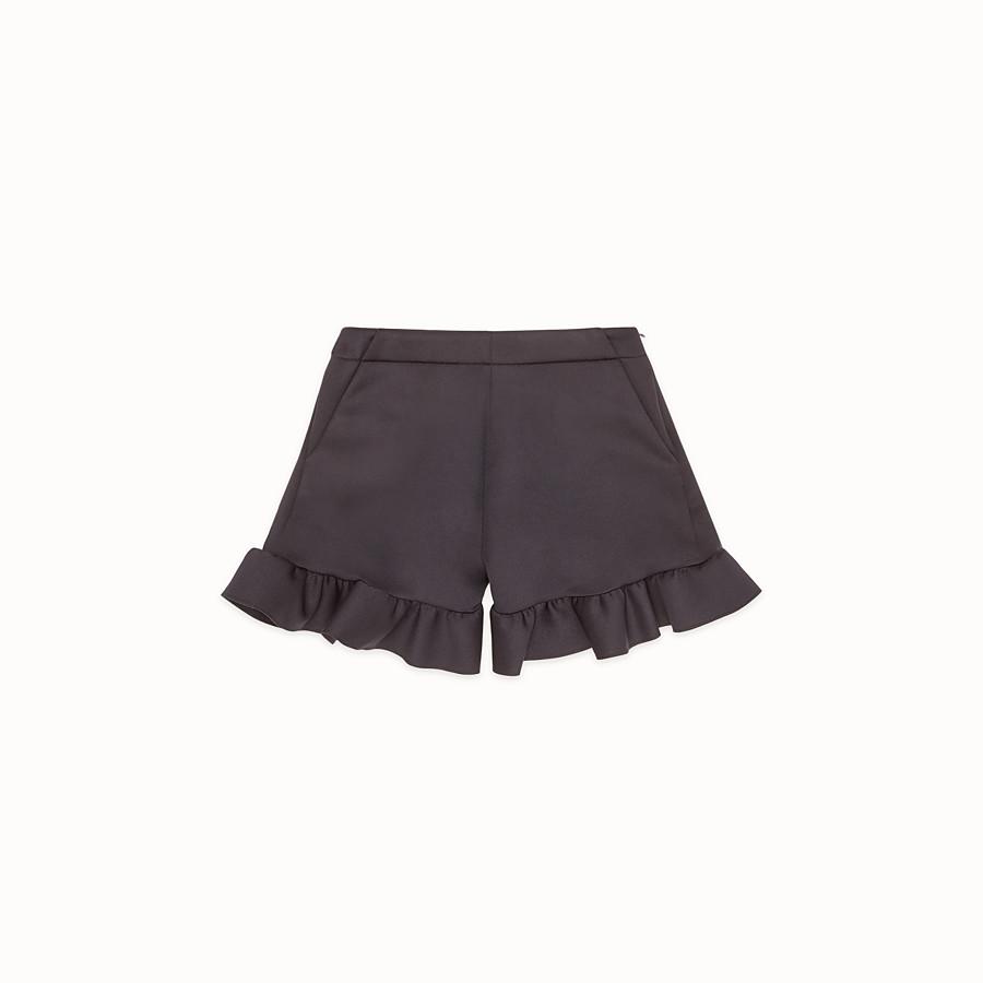 FENDI SHORTS - Black scuba shorts - view 1 detail