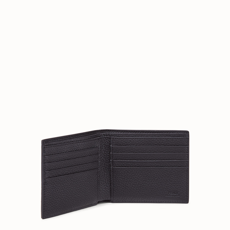 FENDI WALLET - Grey, calf leather bi-fold wallet - view 3 detail