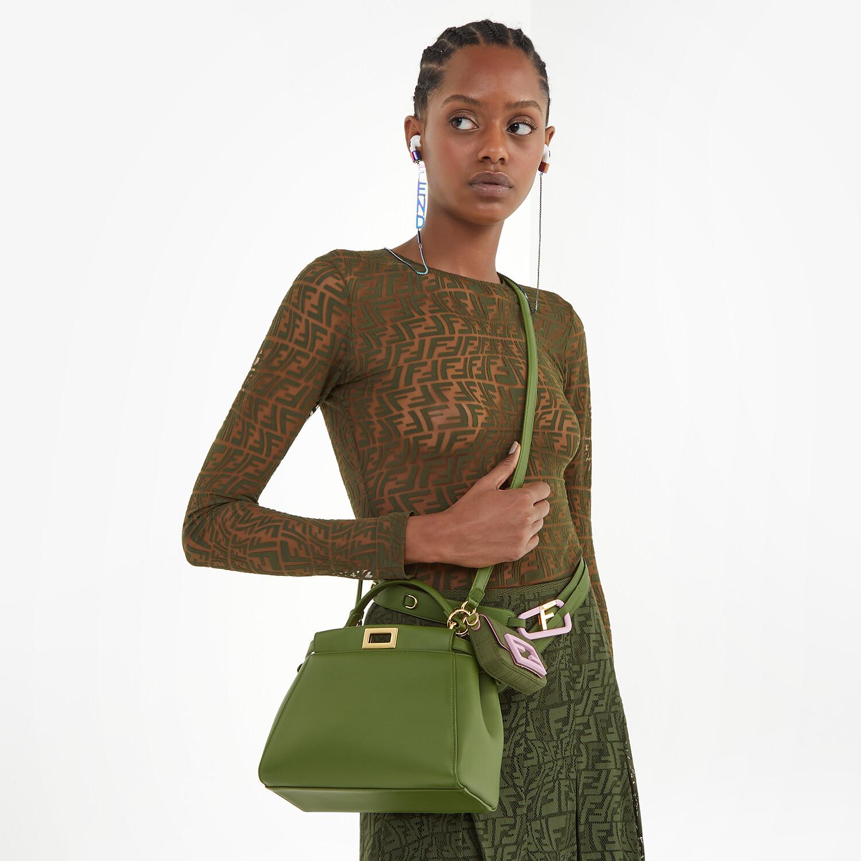 FENDI PEEKABOO MINI - Green nappa leather bag - view 2 detail