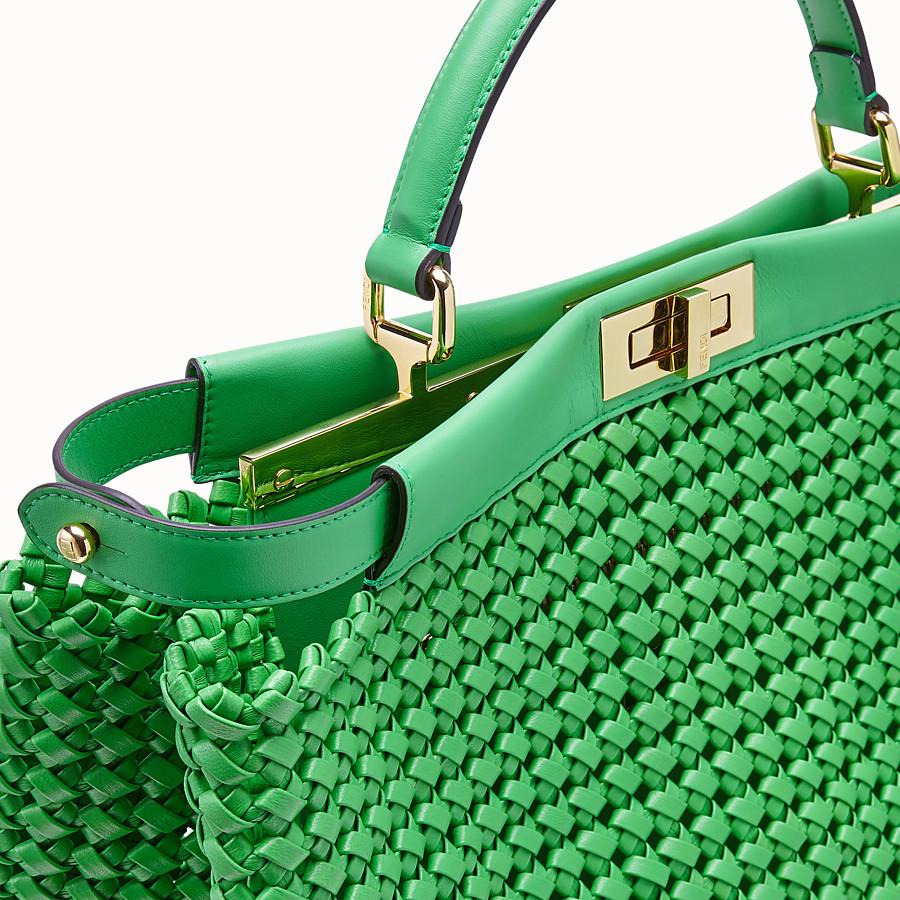 FENDI PEEKABOO ICONIC LARGE - Green leather interlace bag - view 6 detail