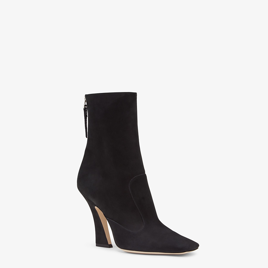 FENDI ANKLE BOOTS - Black nubuck booties - view 2 detail