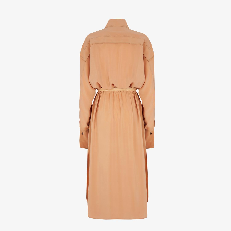 FENDI DRESS - Beige crêpe de Chine dress - view 2 detail