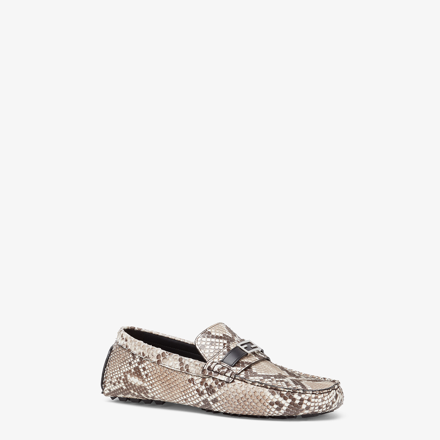 FENDI LOAFERS - Beige python leather drivers - view 2 detail
