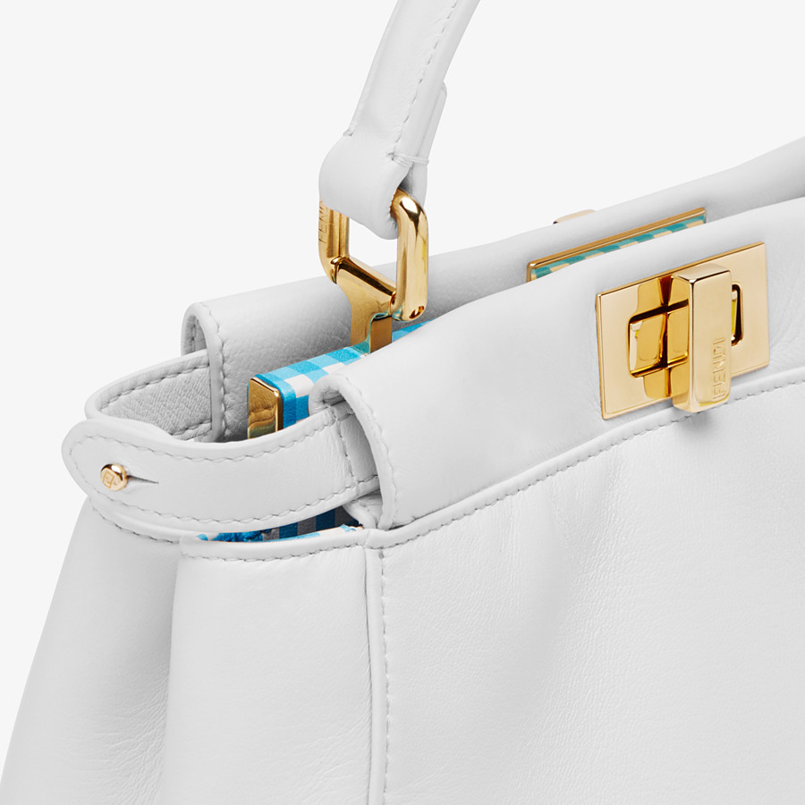 FENDI PEEKABOO ICONIC MINI - White nappa leather bag - view 6 detail