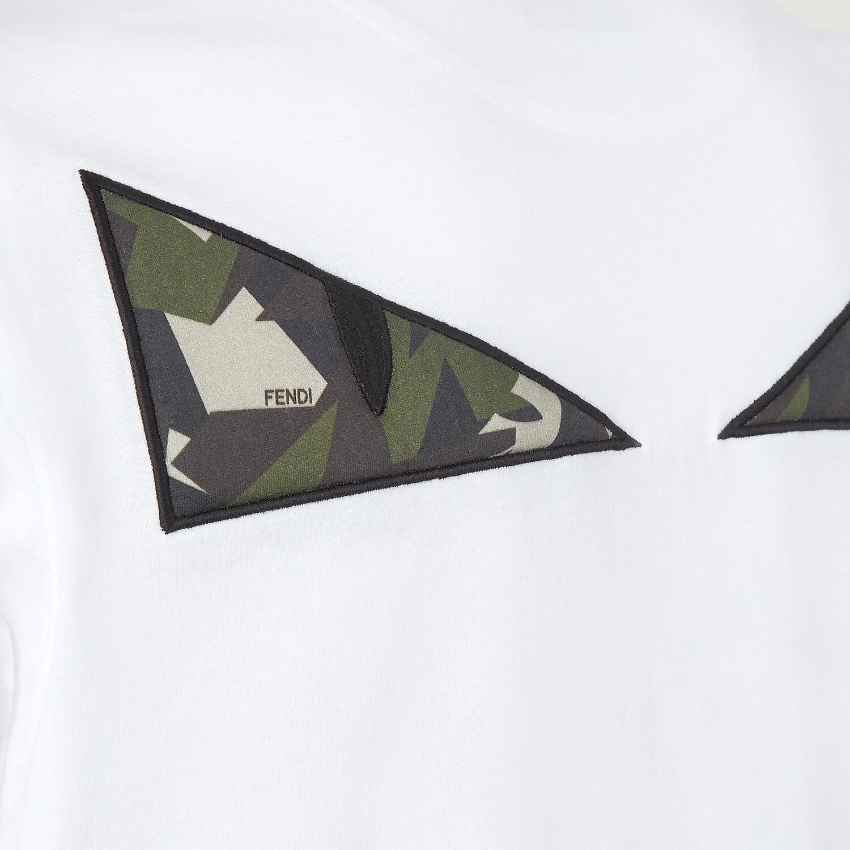 FENDI T-SHIRT - White cotton T-shirt - view 3 detail