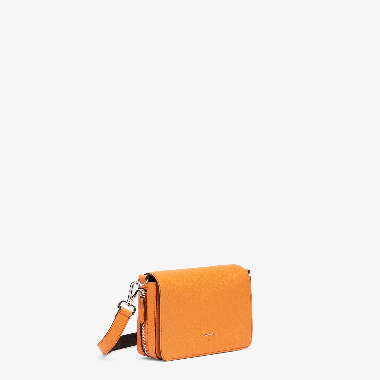 FENDI FLAP BAG - Orange leather bag - view 2 detail