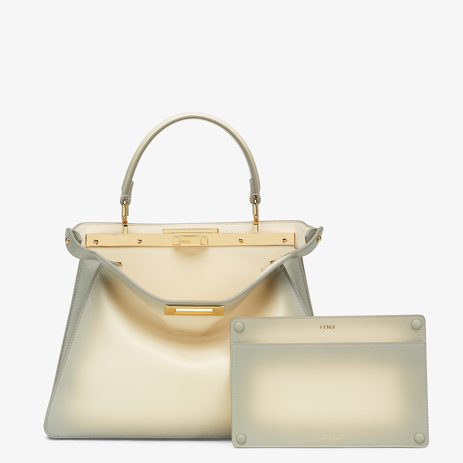 FENDI PEEKABOO ISEEU MEDIUM - White leather bag - view 3 detail