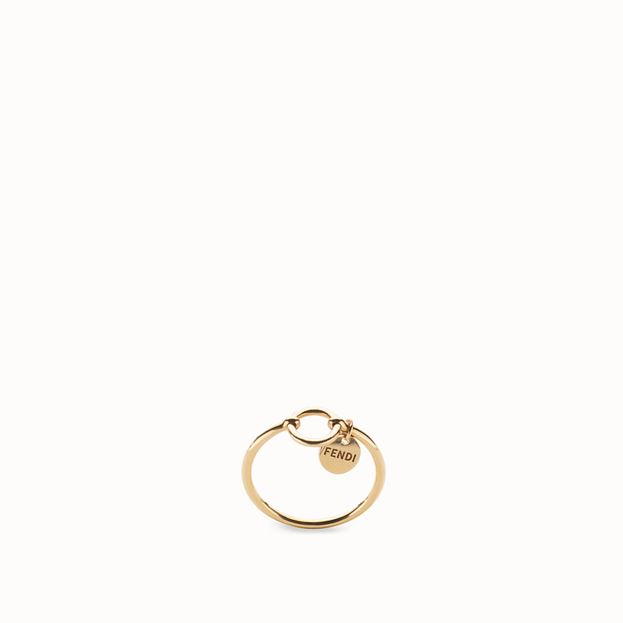FENDI ABCHIC RING - Gold-colour ring - view 1 detail